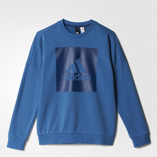 adidas Essentials Logo Crewneck Jr