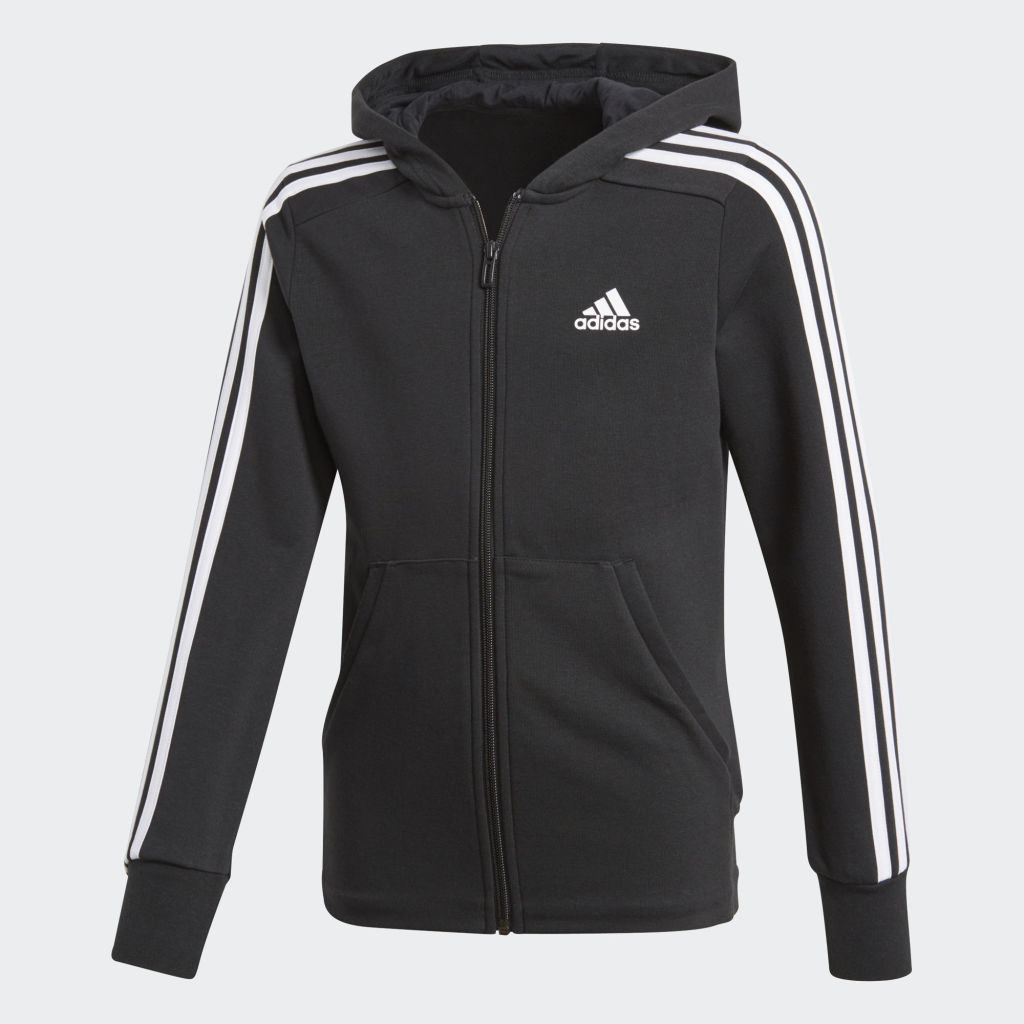 adidas Essentials 3 Stripes Full Zip Hoodie Jr