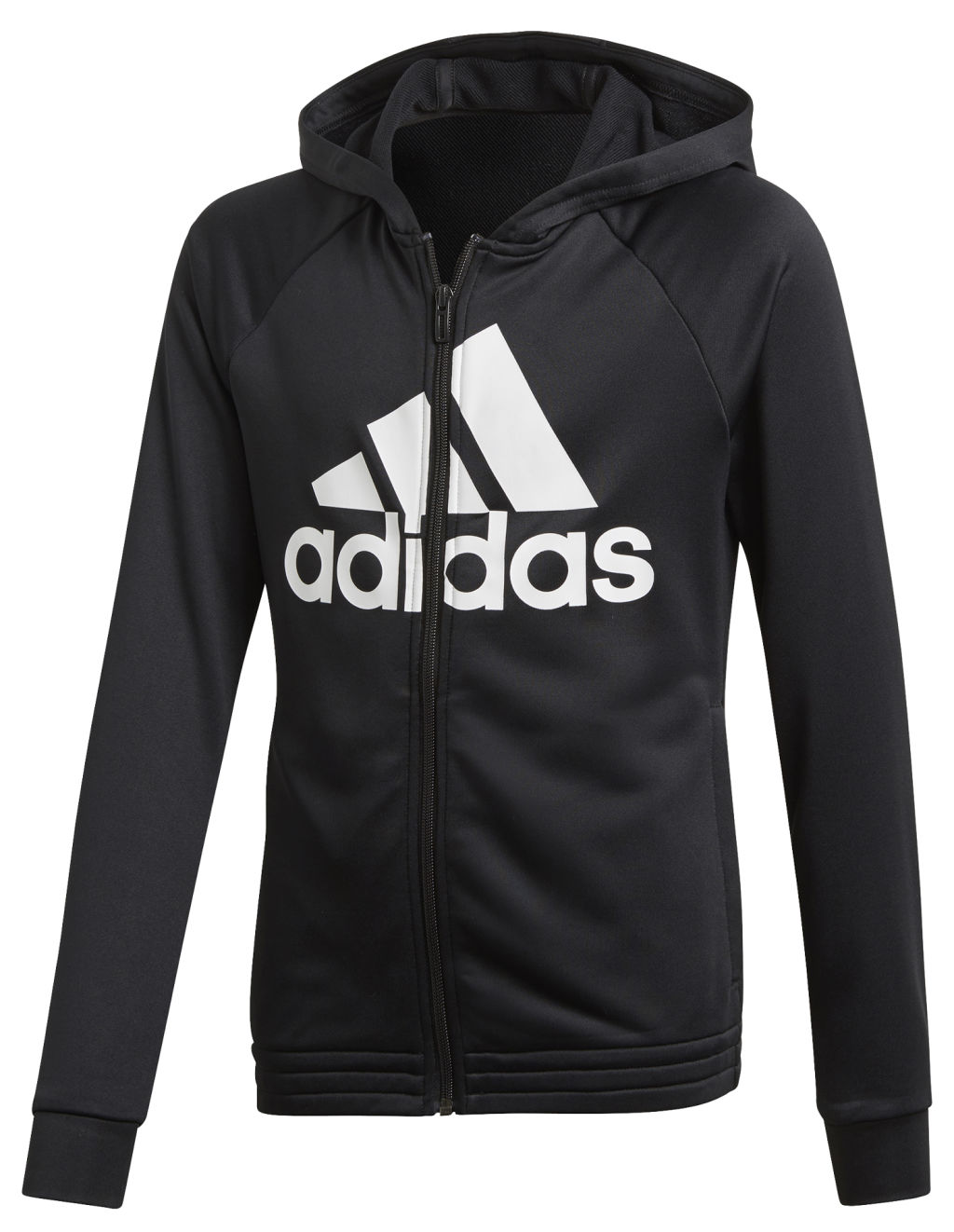 Adidas Yg Hood ts tyttöjen verryttelypuku Musta f57ed28ba0