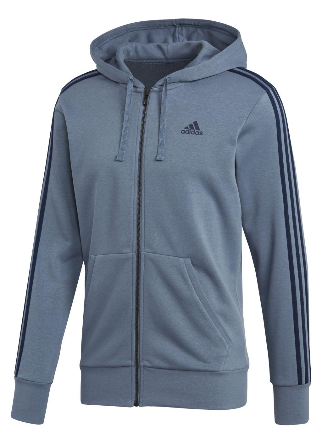 Adidas ESS 3S FZ FT miesten huppari Tummanharmaa caefd6c387