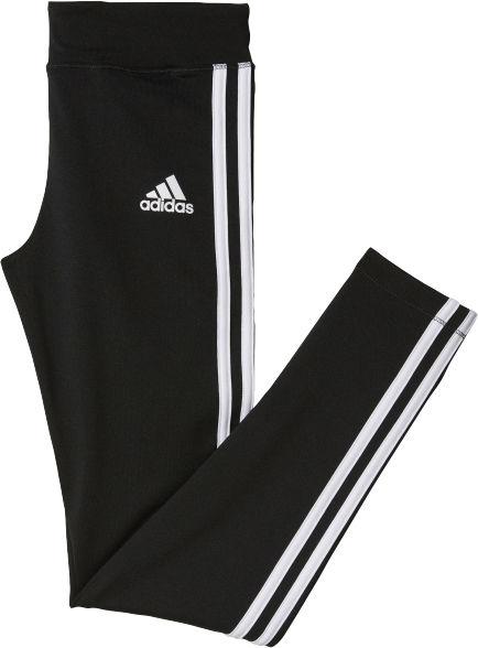Adidas Girls Gear Up 3 Stripes Tight tyttöjen trikoot Musta ac61525a63
