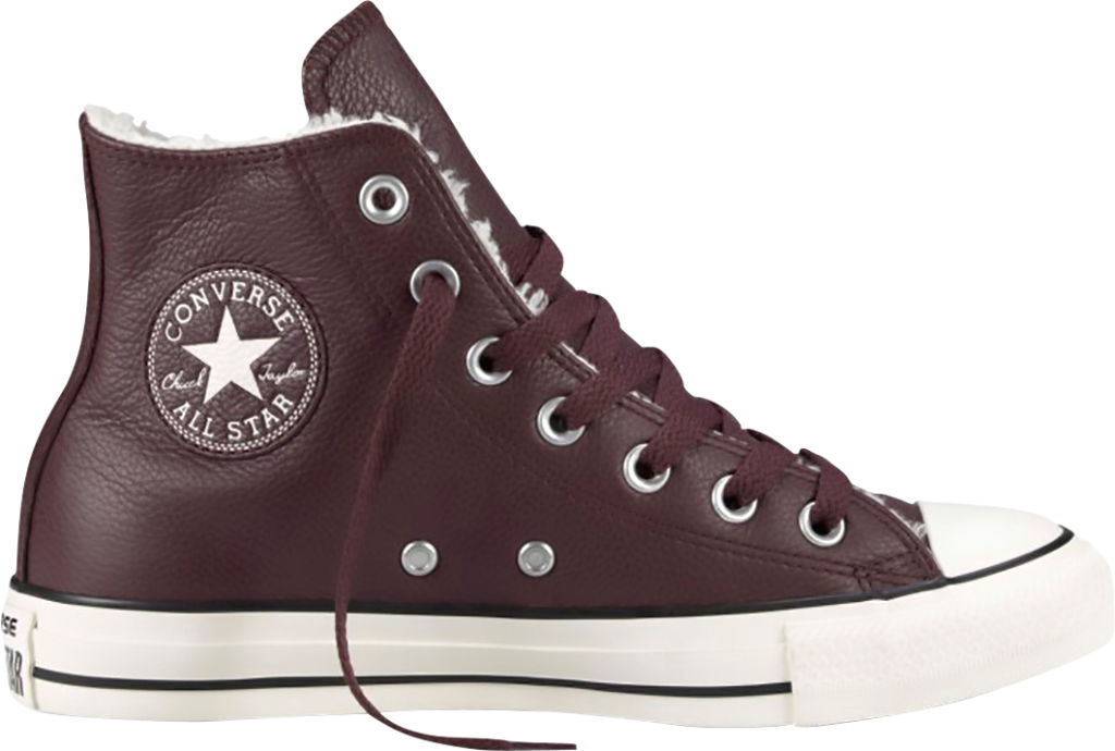 Converse All Star HI Leather Shearling W
