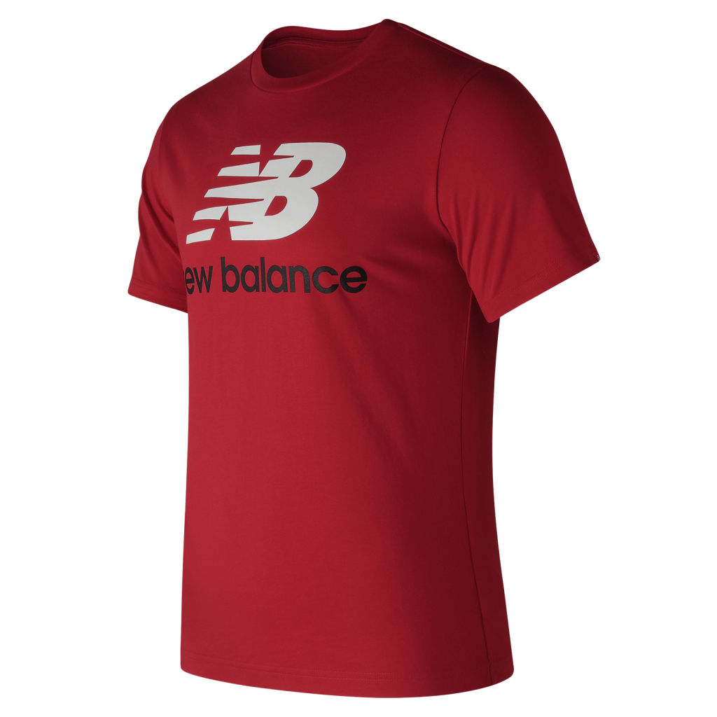 New Balance Essentials Stacked Logo Tee M