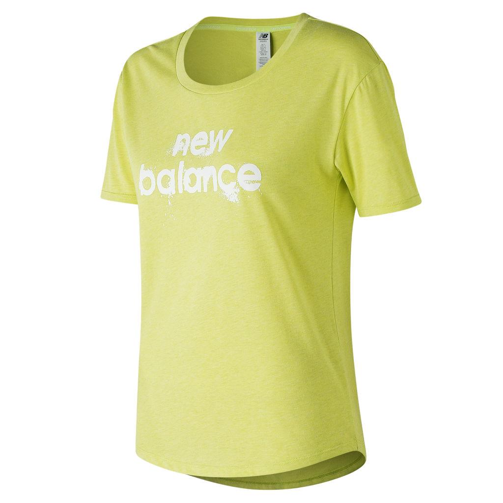 söpö halpa hyvännäköinen alennus New Balance Heather Tech Graphic Tee W - Naisten t-paita | Intersport