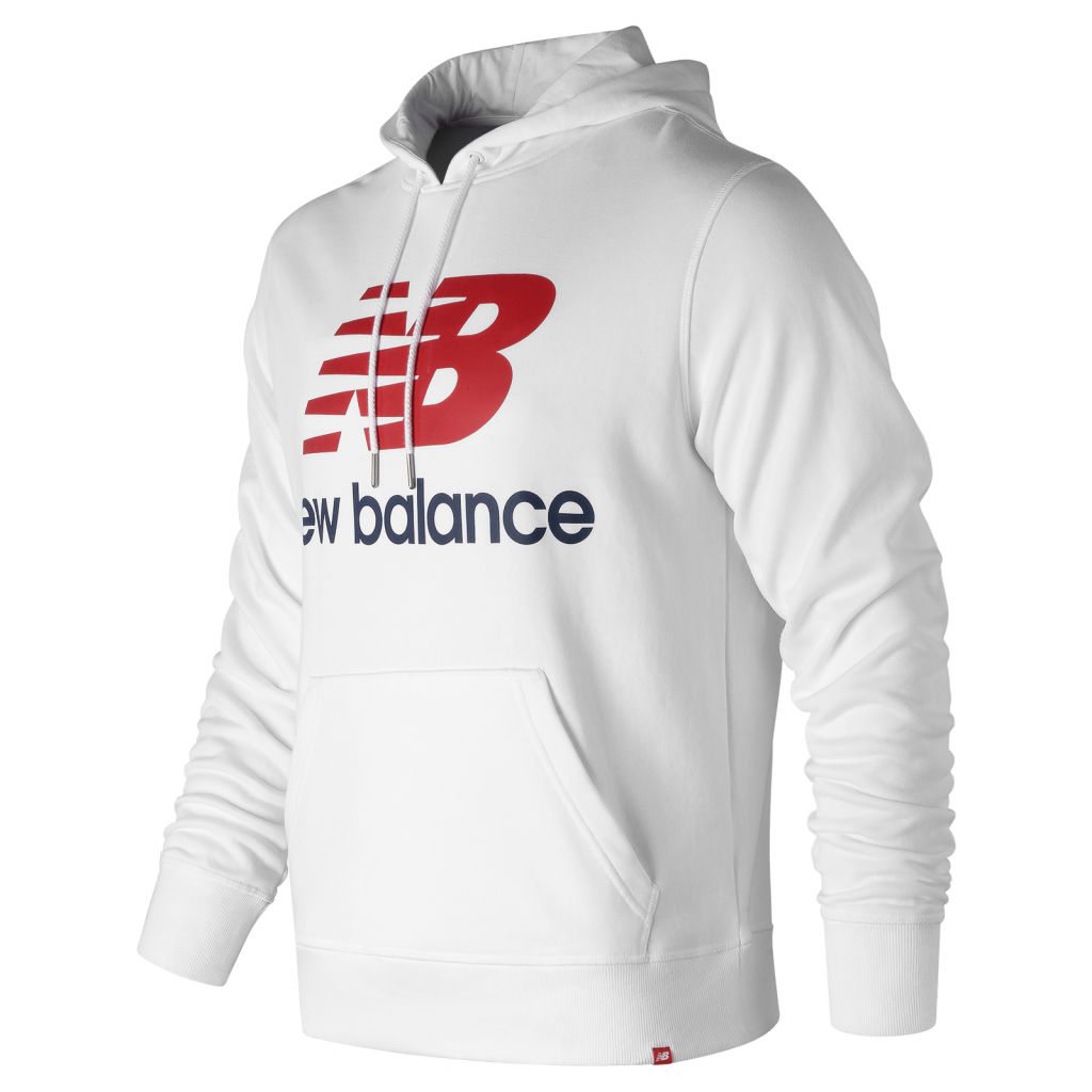 New Balance Essentials Stacked Logo Hood
