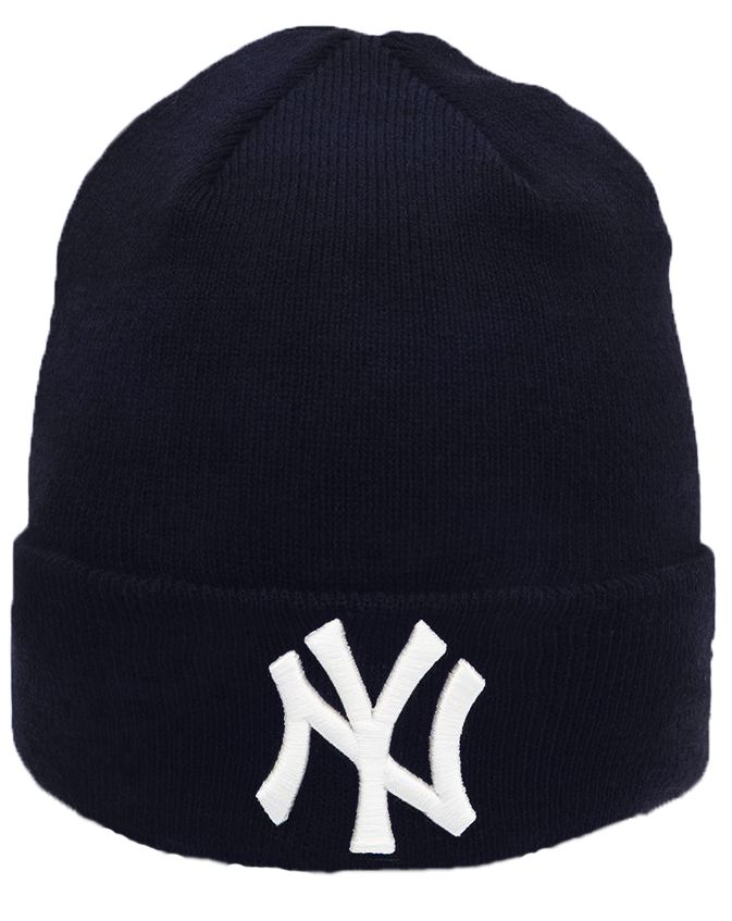 New Era Basic Cuff Knit New York Yankees pipo Tummansininen c9752a8bf22