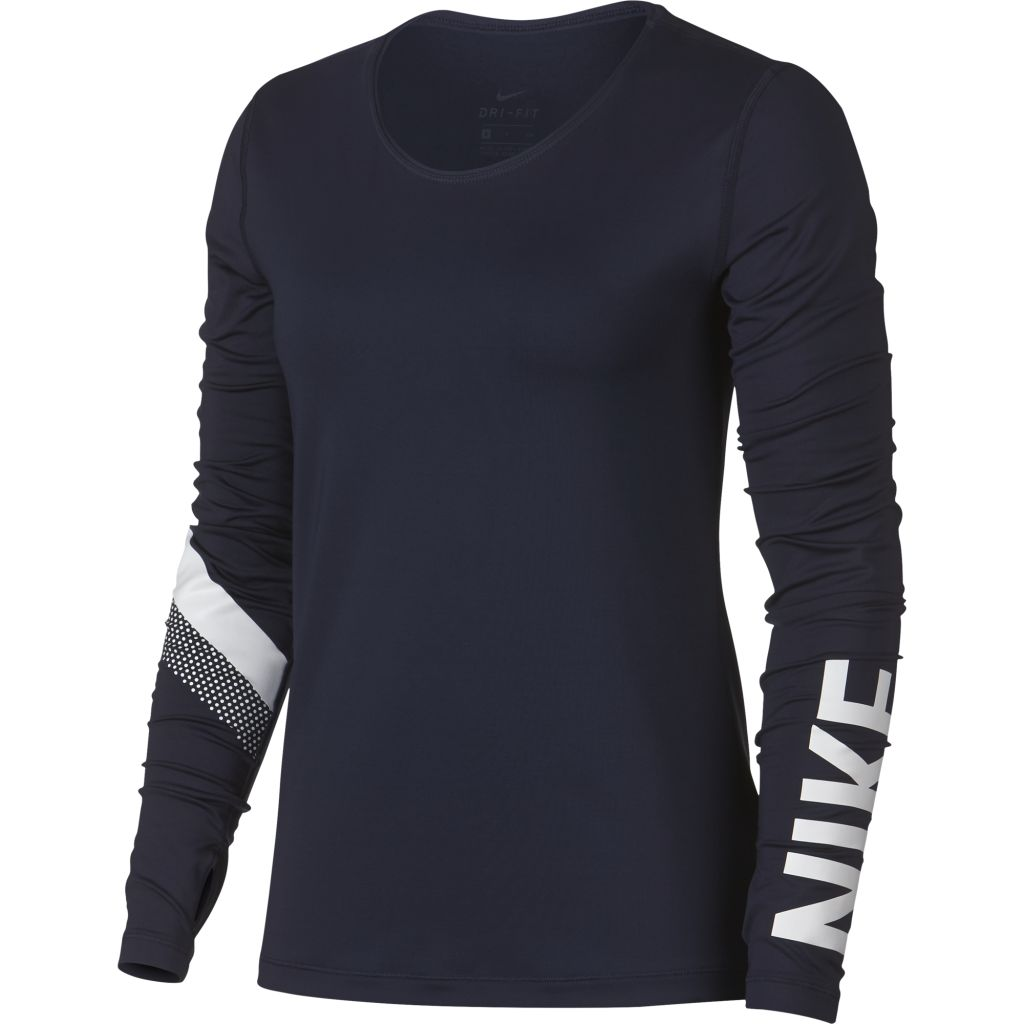Nike Pro Warm LS Striped Top W