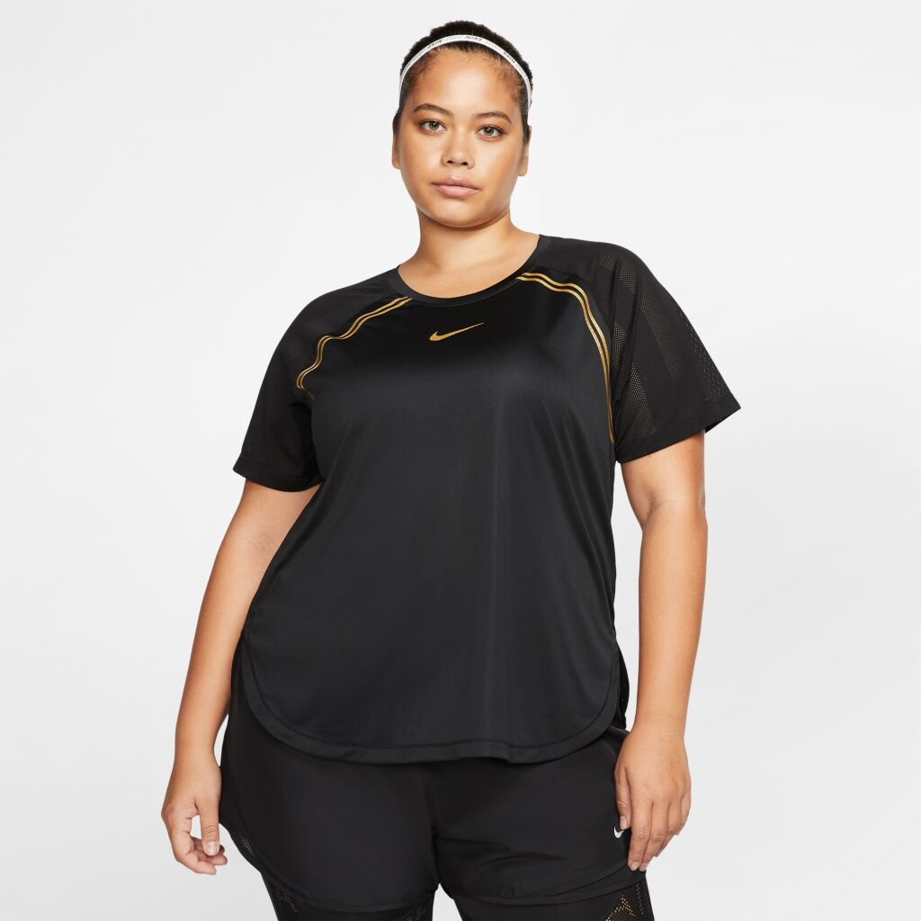Nike Glam Plus SS Running Top + W