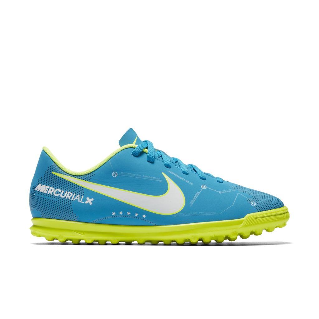 promo code ca572 9a79c Nike MercurialX Vortex III TF Jr lasten jalkapallokengät Sininen