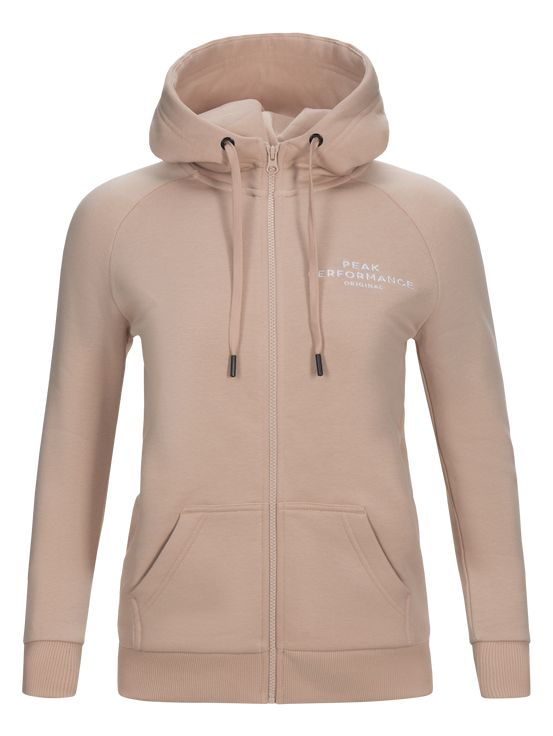 Peak Performance Logo Zip Hood W
