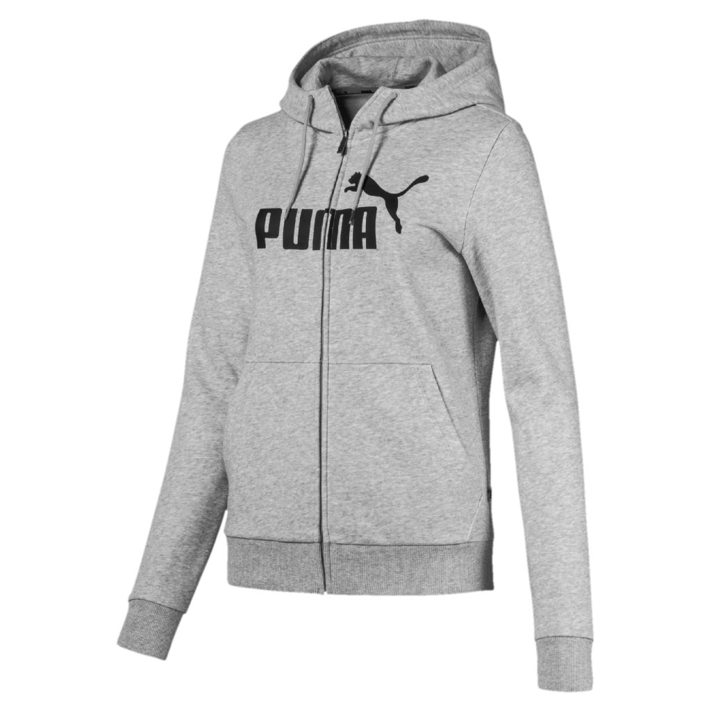 Puma Essential Logo Hooded Jacket W - Naisten huppari - Intersport 8f6103e956