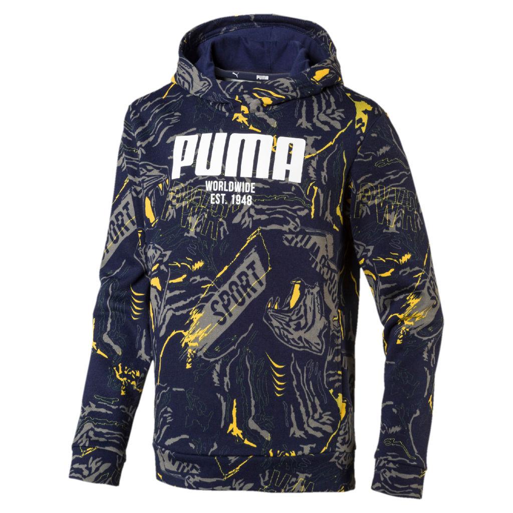 Amazon klassiset kengät uskomattomia hintoja Puma Alpha AOP Hoody FL JR - Huppari | Intersport