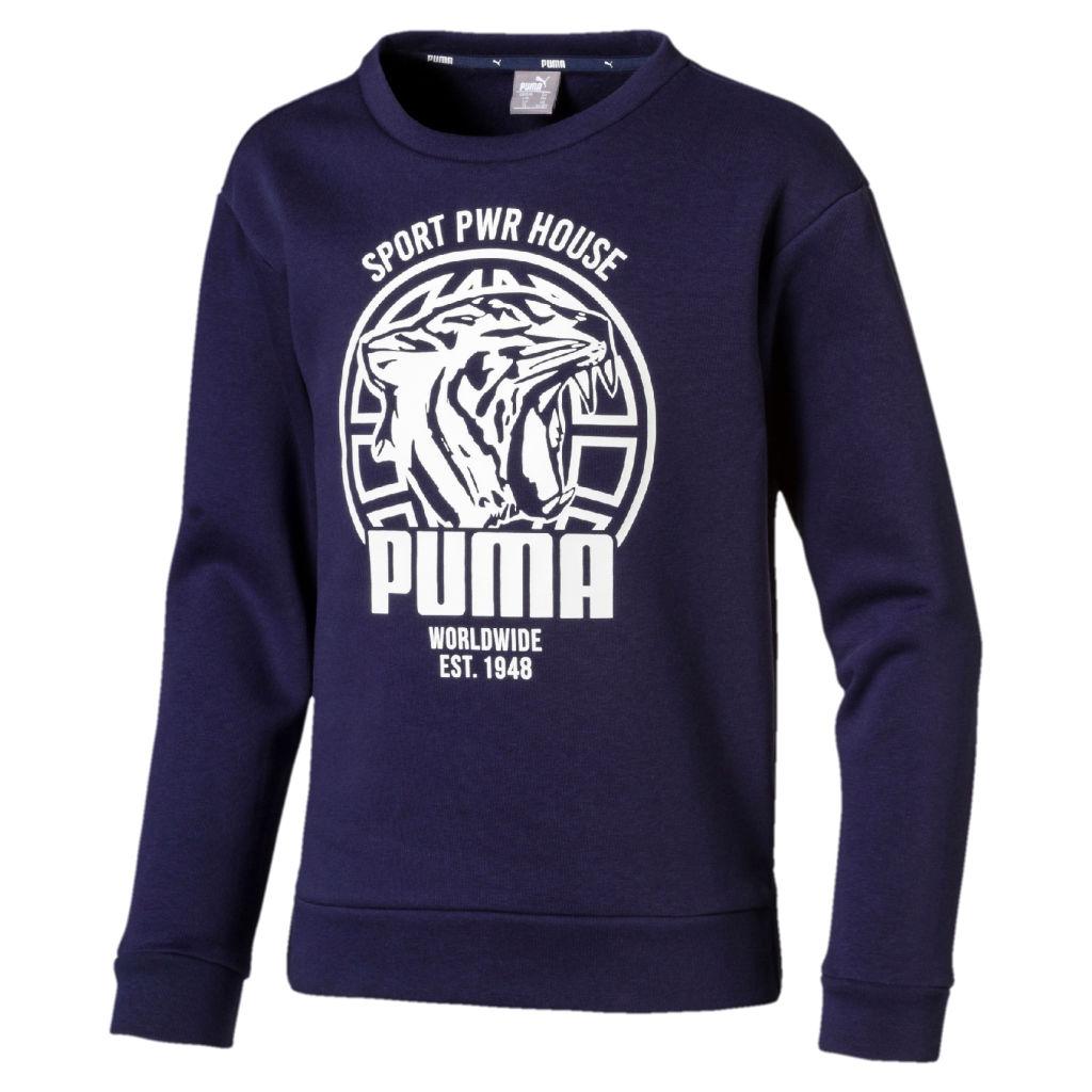 paremmin upouusi hieno tyyli Puma Alpha Graphic Crew FL Jr - Poikien collegepaita | Intersport