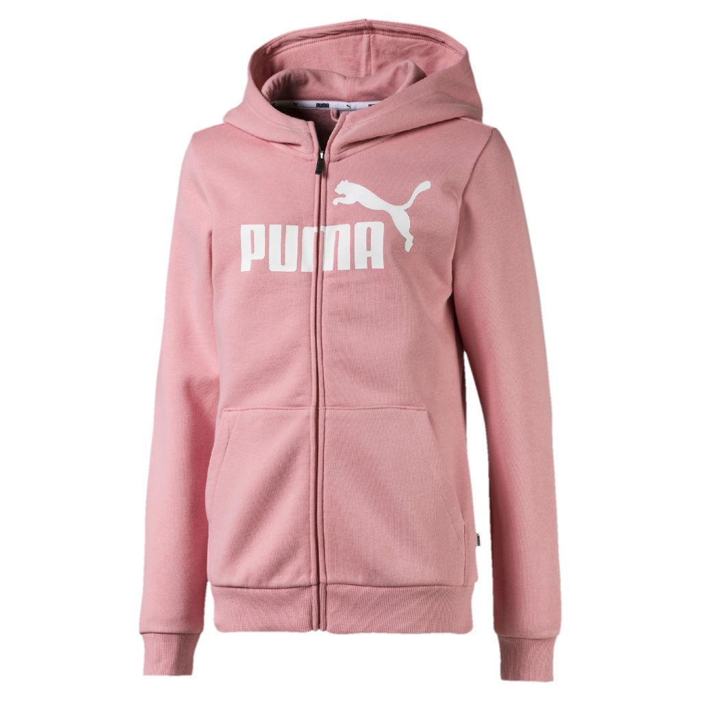 puhdistushinnat alennus uusi kokoelma Puma Essential Hooded Jacket FL JR - Tyttöjen huppari | Intersport