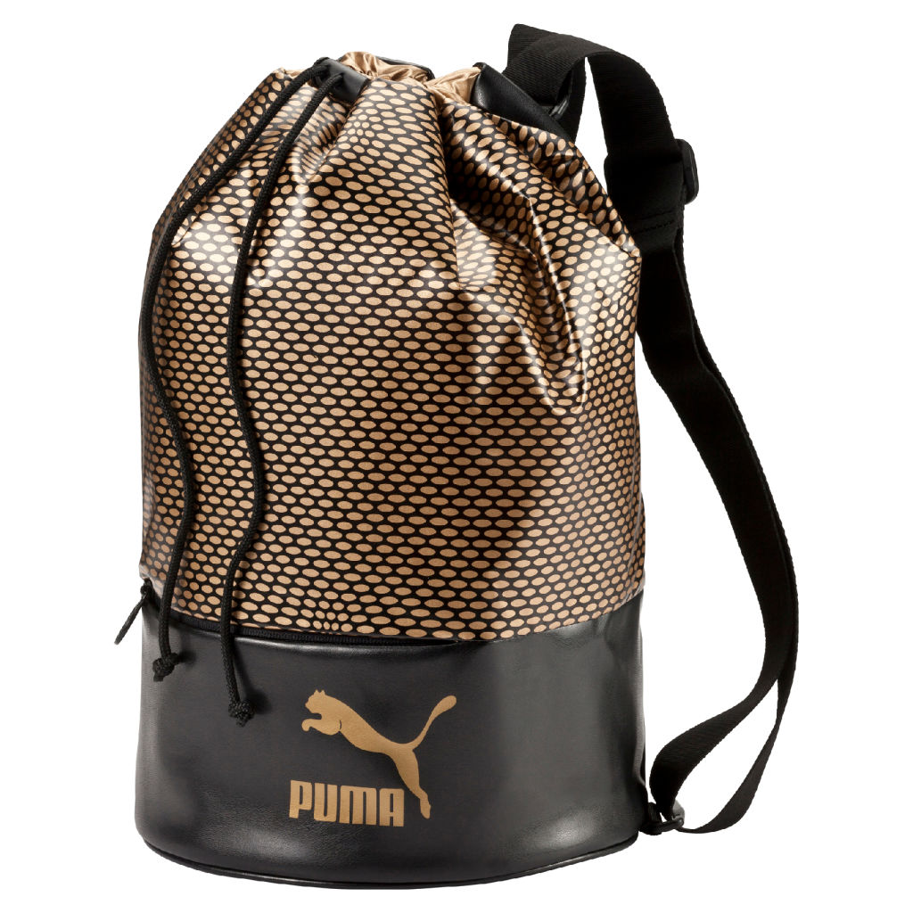 Puma Laukku Koko : Puma archive bucket bag gold gymsack intersport