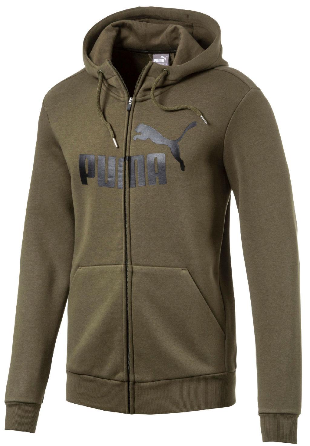Puma Ess No1 Fz Hood Jkt miesten collegetakki Oliivi 604f5fe40f