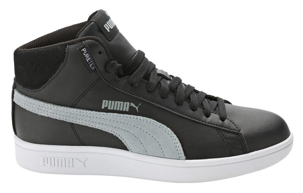 Puma Smash v2 Mid PureTEX aikuisten tennarit Musta 36a42ce96b