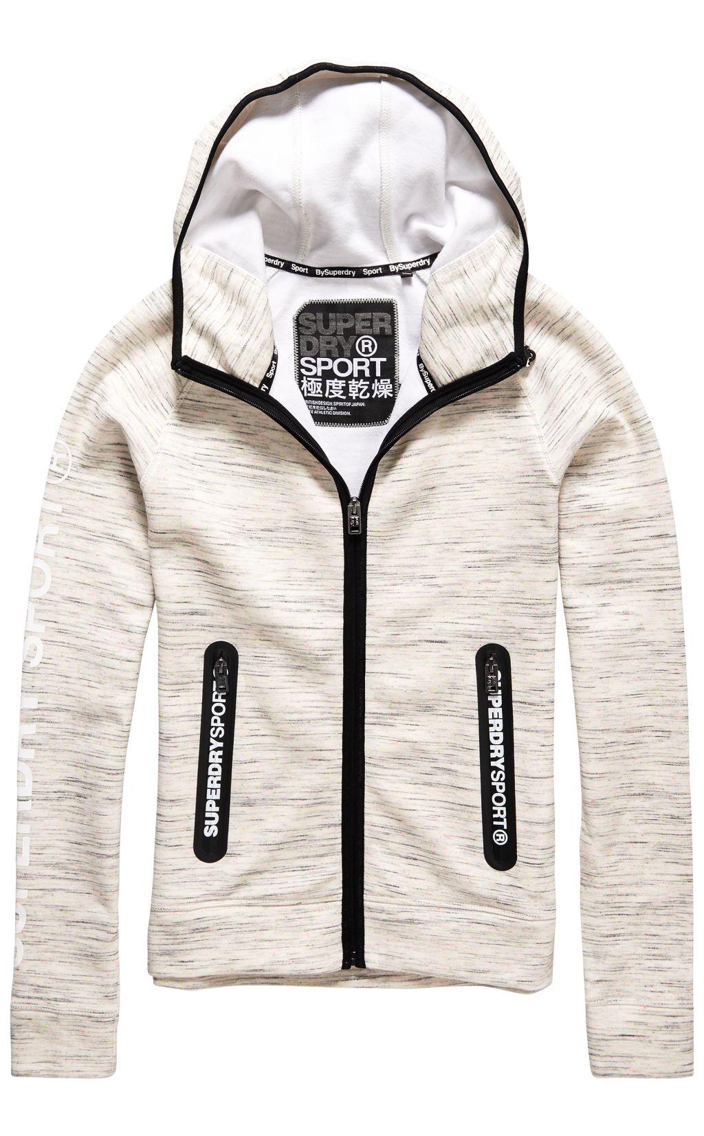 Superdry Sport Gym Tech Zip Hood W