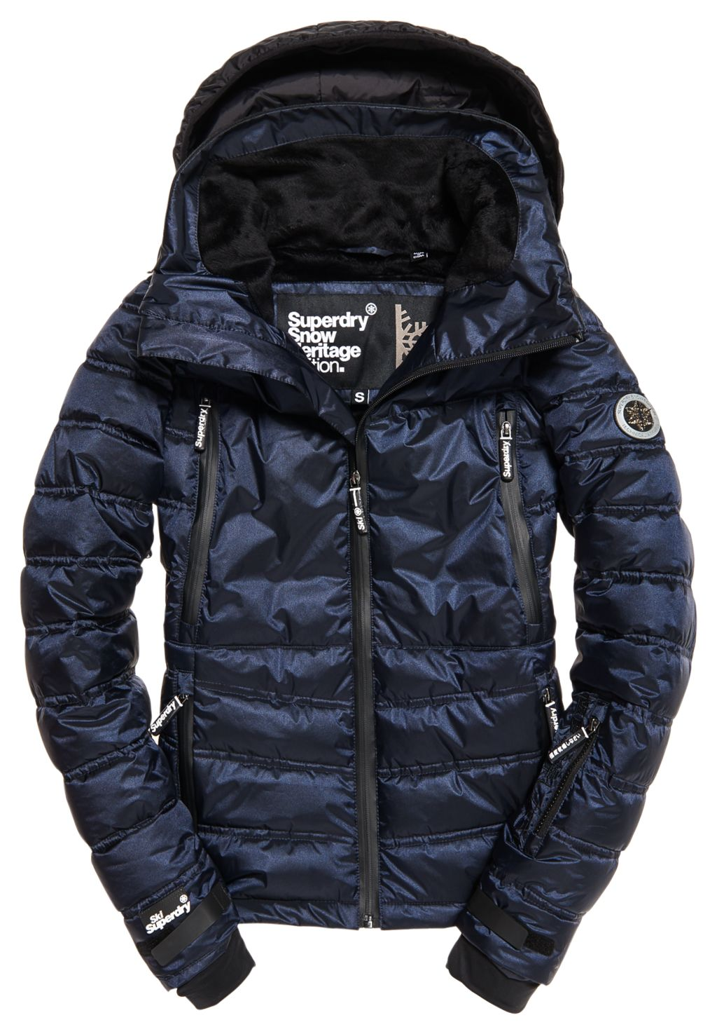 Superdry Sport Slim Chevron Funnel Puffer W