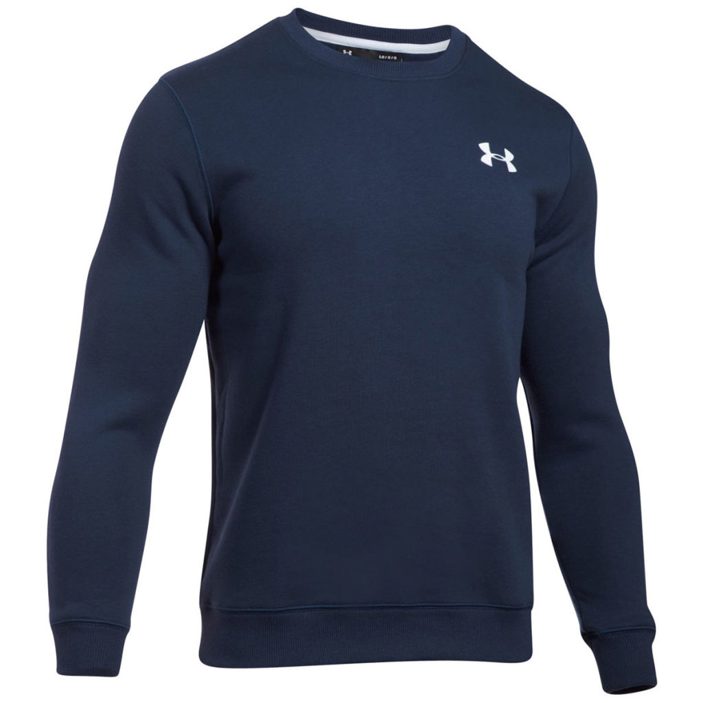Under Armour Rival Solid Fitted Crew - Miesten collegepaita - Intersport ddf57620ed