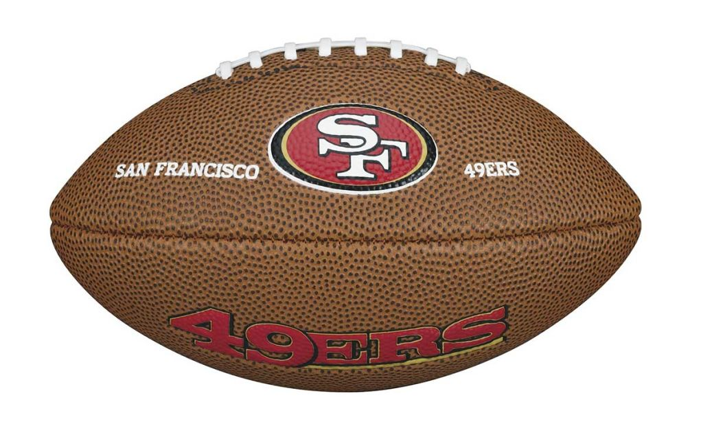 Wilson NFL Team Logo Mini San Fransisco 49ers amerikkalainen jalkapallo ce66e17b33